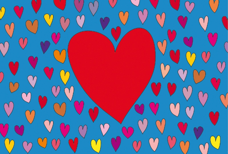 Photobooth backdrop 1000 and 1 heart colorful