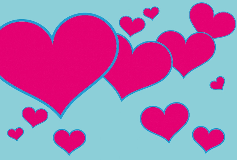 Photobooth backdrop Pink hearts